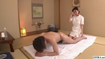 Uncensored JAV wife Manami Komukai CFNM rimjob massage therapy in High definition