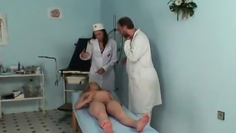 Pregnant milf fucked by gynaecologist- More On HDMilfCam com