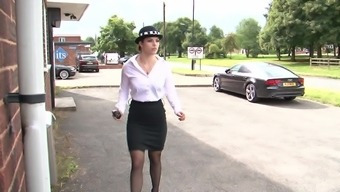 Lucia Love serves as a attractive policewoman who craves a shag