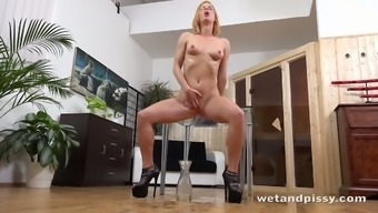 Czech beauty Chrissy Coyote has got a bumping body and she or he loves urinating