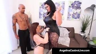 Cuban Plus-size woman Angelina Castro & Emperor Noir Make Sara Jay Enter!