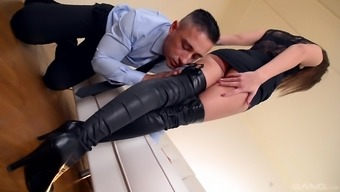 With sharon Lee seduces a person together horny ft for a shag