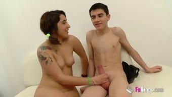 Naughty Jordi El Nino Polla gets Cris naked to really explore her fuck gap