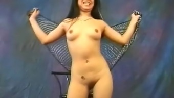 Pretty From asia tramp Miki Chan does some exotic, open dancing