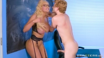 Nicolette Shea is typically a perverted teacher longing an erected angle