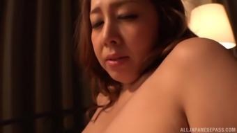 Plump Kazama Yumi cannot linger to experience a man's boner