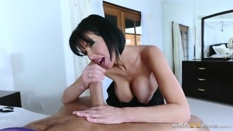 veronica avluv titfucks his fat penis and deepthroats it