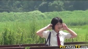 Japanese people pupils wee