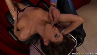 april o'neil taking part in game wanting to effectively fuck a tycoon