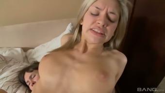 Lesbian brunette Novi dildo fucks anus hole of sex-appeal brown