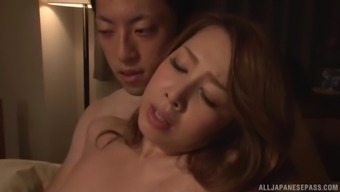 Unquenchable girl Kazama Yumi loves being fucked through a adult man