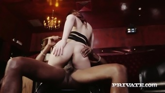 Specialist bitch Lucia Like gives her head before a steamy interracial sex