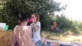 Lively teen has a voyeur craze