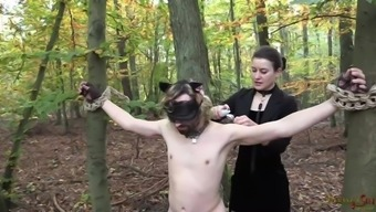 Kitty likes Mistress's event - Outside Strap-on Fuck
