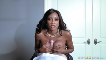 stone jackson stinks and tit fucks her changed employee's substantial cock