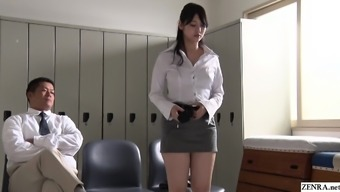 JAV stars turned instructor Rei Mizuna striptease Subtitled