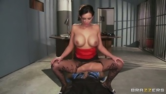 smoking cigarettes or cigars hot porno star phoenix marie using the watch police officer within the reformatory