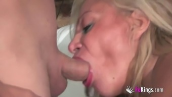 Alexa Blune serves as a black cougar who wants to play along with guys