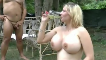 Gigantic boobs females blow great deal of wee