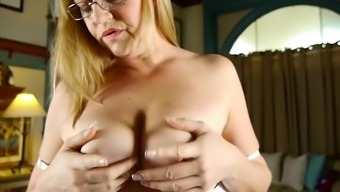 Horny North american Mom Showing Off Her Fine Titties