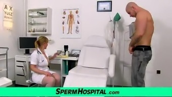 Czech even milf Gabina supports a dude by using sperm donation