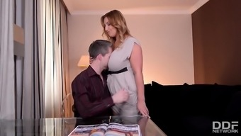 Coach fucks his Organically Busty Wifey before Vacation