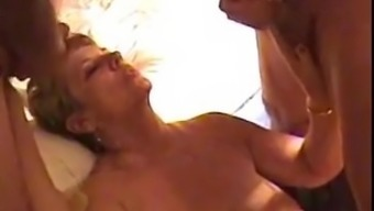 GILF gets jizzed on, at two different occasions when!