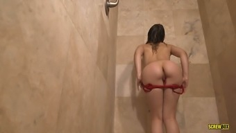Smoking cigarettes or cigars sizzling babe acts by using herself within a bathroom
