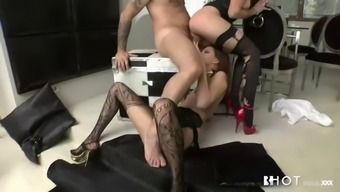 tough threesome by using immoral hungarian bitches mira night & lien parker