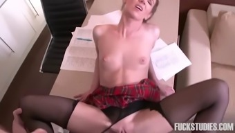 skinny russian community college date by using pigtails gets fucked by her the english language instructor