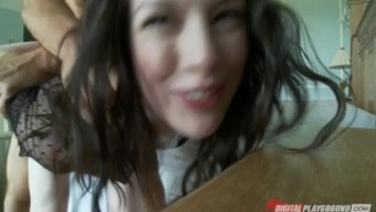 Big-booty panties clothed toddler Stoya is fucked by her man on digicam