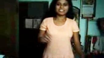 Southindian TAMIL Hot Krown Saona filmed herself