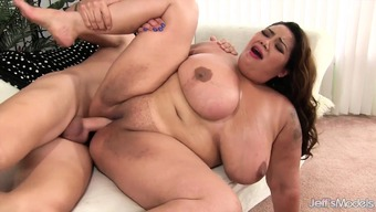 Giant boobed thick from asia takes penis