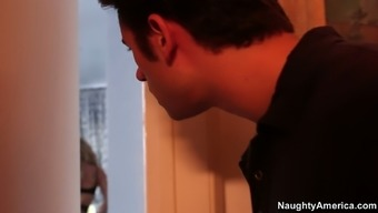 Little stud poker spies on Brandi Not only enjoy but gets caught for sexual intercourse