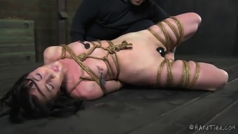 Cute servitude cowgirl spanked and teased in BDSM porno