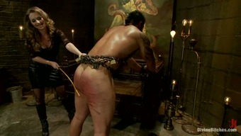 Surrounded Stud Getting Illogically Spanked before Pegging by Girlfriend Along side