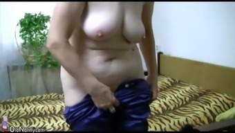 OldNanny Old granny is playing with youthful man and sextoy