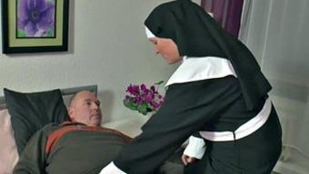 In german Grandma Nun get Fucked along with not dad in SexTape