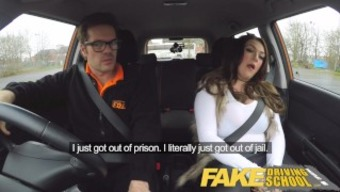 Fake School of motoring big tits jailbird normally takes master on a wild cycle!