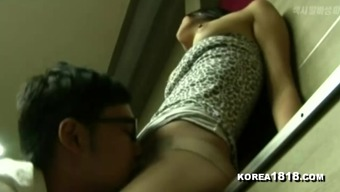 KOREA1818.COM - Horny Group Hallway Girl