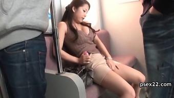 Community public bus pussy stroking
