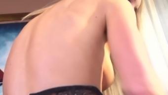 Hot black counter Kiara Lady discussions soiled while masturbating
