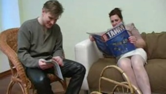 Granny in Light Stockings Complies with the Boy
