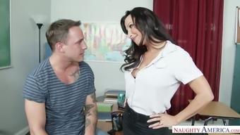 Hot teacher Lezley Zen requests her scholar to really thrash her moist pussy