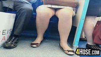Upskirt Toward the Subway
