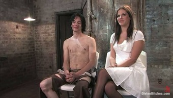 Perverted Bobbi Starr Factors Stud for getting a Crazy Penis Cycle in Femdom Servitude