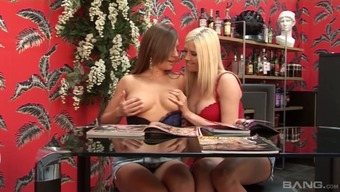 Big breasted blonde Michelle B needs a number of lesbian beloved