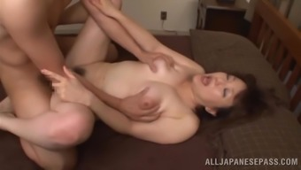 From asia milf is fucked stupid using a a attractive stud