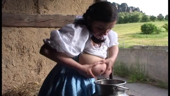 Conventional German milk maid