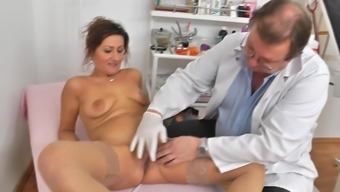Grow older cherry examined by perverted gyno